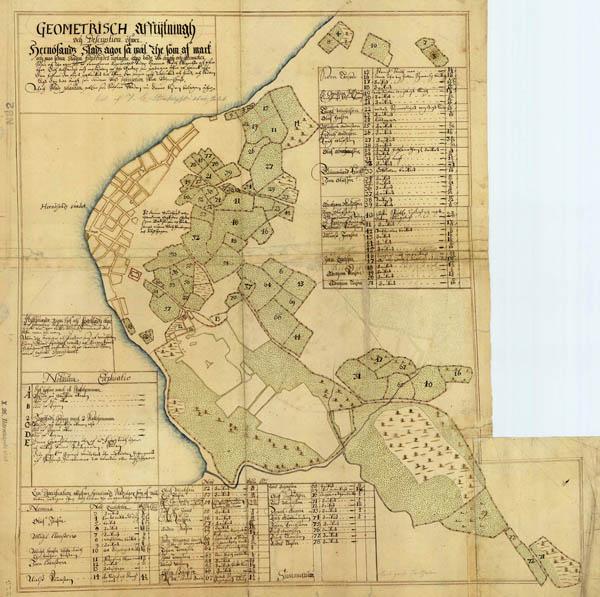 karta härnösand Karta över Härnösand 1640 karta härnösand